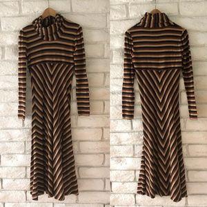 Anthropology Striped Dress Sz M